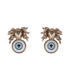 Fall Jewelry Guide at #ShopBAZAAR: Whimsical Jewelry –  Bernard Delettrez Bronze Spider Eye Earrings