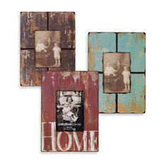 Distressed photo frames