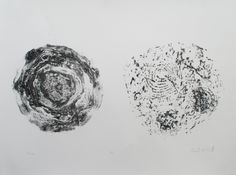 "diptych lithography. Titled: ""Pine"" by Angela McGrath"