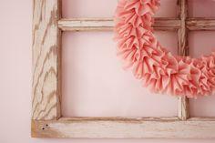 Love this elegant idea for a wreath.