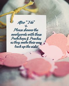 personalized paper confetti to toss