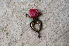 Heart Pin-Deep Pink