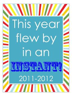 End of the Year Printables and Craftivity/Bulletin Board Idea