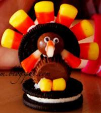 candy and cookie turkeys
