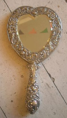 1898 Silver Heart Mirror