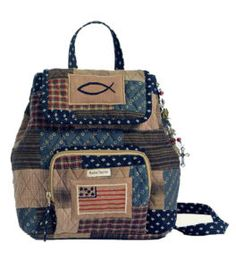 "Bella Taylor ""Patriotic Patch""   patchwork backpack"