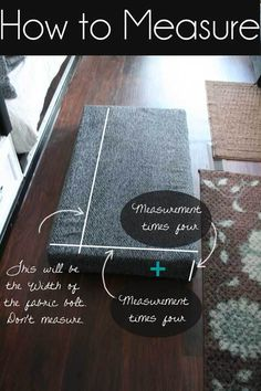 DIY step by step help for the first timer who wants to recover the travel trailer /rv cushions. How-to-Measure-a-Cushion-to-Reupholster-it