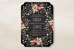Floral Chalkboard Wedding Invitations by Kristie K...   Minted