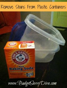 Remove Stains from Plastic Containers