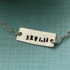 Roman Numeral Marathon Bracelet