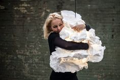 Proplamp – Lamp in the shape of a Crumbled Piece of Paper