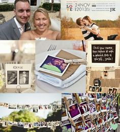 Selfie Wedding Theme Mood Board from The Wedding Community