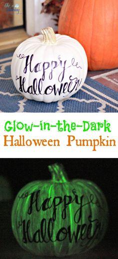Glow-in-the-Dark Halloween Pumpkins