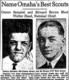 """A newspaper article about Omaha's leading Boy Scouts, published in the Omaha World Herald (Omaha, Nebraska), 26 August 1926. Read more on the GenealogyBank blog: """"6 Genealogy Projects to Interest Kids & Teens in Family History."""" http://blog.genealogybank.com/6-genealogy-projects-to-interest-kids-teens-in-family-history.html"""