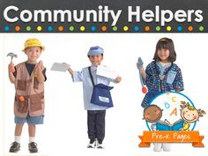 Ideas and activities for teaching about community helpers in your preschool, pre-k, or kindergarten classroom.