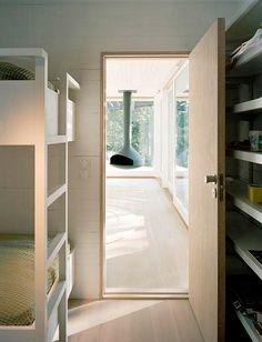 swedish summer home. bunk beds.