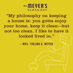 keep it clean, but not too clean #mrsmeyerscleanday