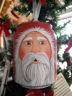 Mini pop can santa ornie  http://www.etsy.com/shop/CyndiMacsNickKnacks