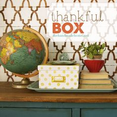 thankful box | the handmade home