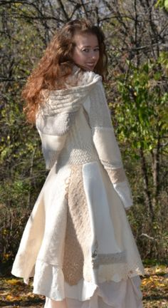 Upcycled Sweater coats, absolutely gorgeous.