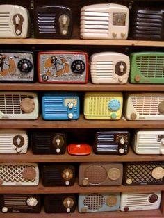antique radios, case collect, collections vintage, vintag radio, collect radio