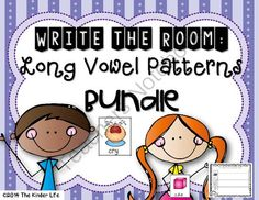 Writing Center: Write the Room (+more) Long Vowel Patterns Bundle from TheKinderLife on TeachersNotebook.com -  (40 pages)  - This bundle includes 5 Write the Room packs!