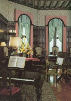 Lovely music room at the Biltmore Estate