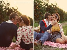Chic Vintage 50's Retro Engagement Wedding Photography