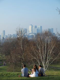 Enjoying the sunshine in Greenwich Park