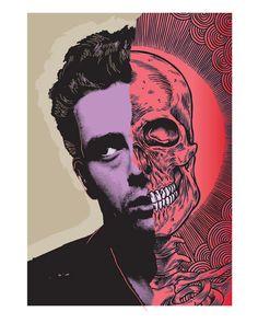 skulls, artists, jame dean, inspiration, die young