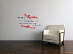Baseball Stitches decal Never let the Fear by BreezePrintCompany, $28.00