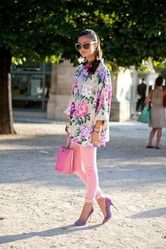 sunday brunch, floral prints, color, pink pants, pastel pink, outfit, new fashion, flower, peoni