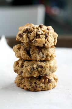 Gluten Free Salted Chocolate Chip Oatmeal Cookies