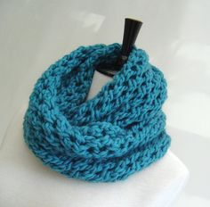 Cowl Infinity Scarf KNITTING PATTERN  PDF Digital Delivery