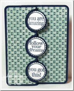 TSOL–Words4Circles created by Frances Byrne using The Stamps of Life Words4Circles; stamp set and Sizzix Triple Circle Flip-its Framelits
