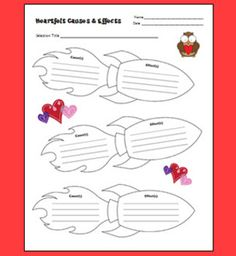 Heartfelt Causes and Effects - Free lesson based on Somebody Loves You, Mr. Hatch. Includes printables and directions.