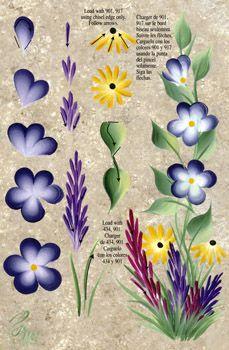 One Stroke Wildflowers Teaching Guide Packet by Folk Art
