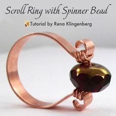 Scroll Ring with Spinner Bead (Tutorial) — Jewelry Making Journal