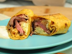 Steak and Egg Burrito Recipe : Jeff Mauro : Food Network The Kitchen