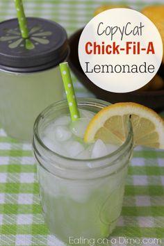 copycat chickfila, lemonade recipes, chickfila lemonad, chick fil a lemonade recipe, drink, eat, beverag, three ingredi, lemonad recip