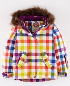 Love this kids' ski jacket from Boden. Cheery.