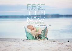 Outdoor beach newborn photography