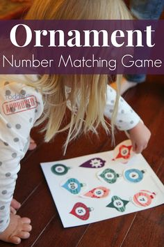 Ornament Number Matching Game  with free printable