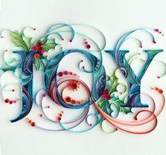artists, quilling yulia brodskaya, letter, paper work, paper design, paper quilling, paper crafts, cards, christma