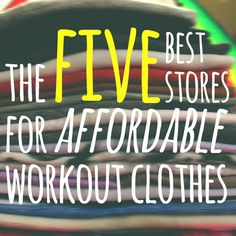 Fit Personality - Where To Find Cheap & CUTE Workout Clothes!
