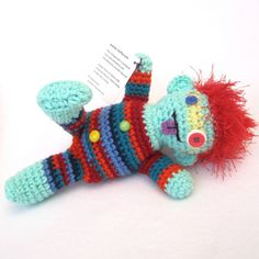 Handmade Amigurumi Plush Crochet Boy Doll  Waldy by Fuffalumps