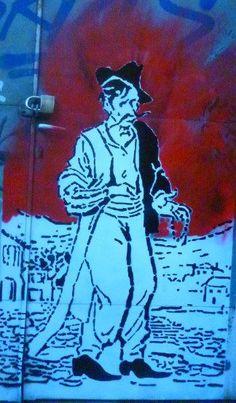 Stencil in Psiri , Athens.
