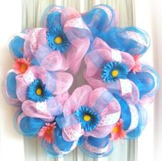 Spring Deco Mesh Wreath by Southern Charm Wreaths