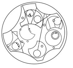 """""""Not all who wander are lost"""", written in circular Gallifreyan  Dr. Who meets LotR"""