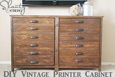 DIY Vintage Printer Cabinet